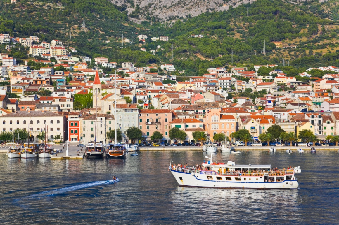 'View to Makarska, Croatia - travel background' - Split