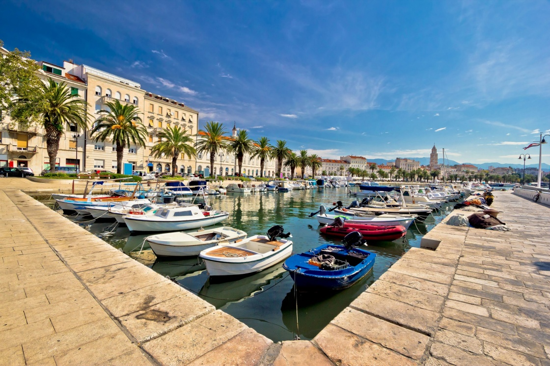 Adriatic city of Split seafront view, tourist destination in Croatia, Dalmatia