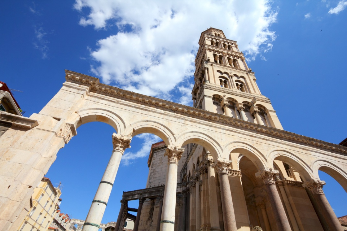 Croatia - Split in Dalmatia. Diocletian's Palace - famous UNESCO World Heritage Site.