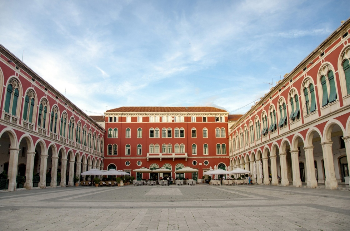Mediterranean (Republic) Square in the City of Split in Croatia